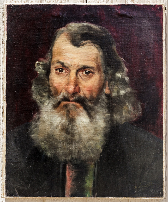 """Superb Antique 19th Century Oil Painting on Canvas, Expressive Gentleman with Beard 18"""" x 15"""""""
