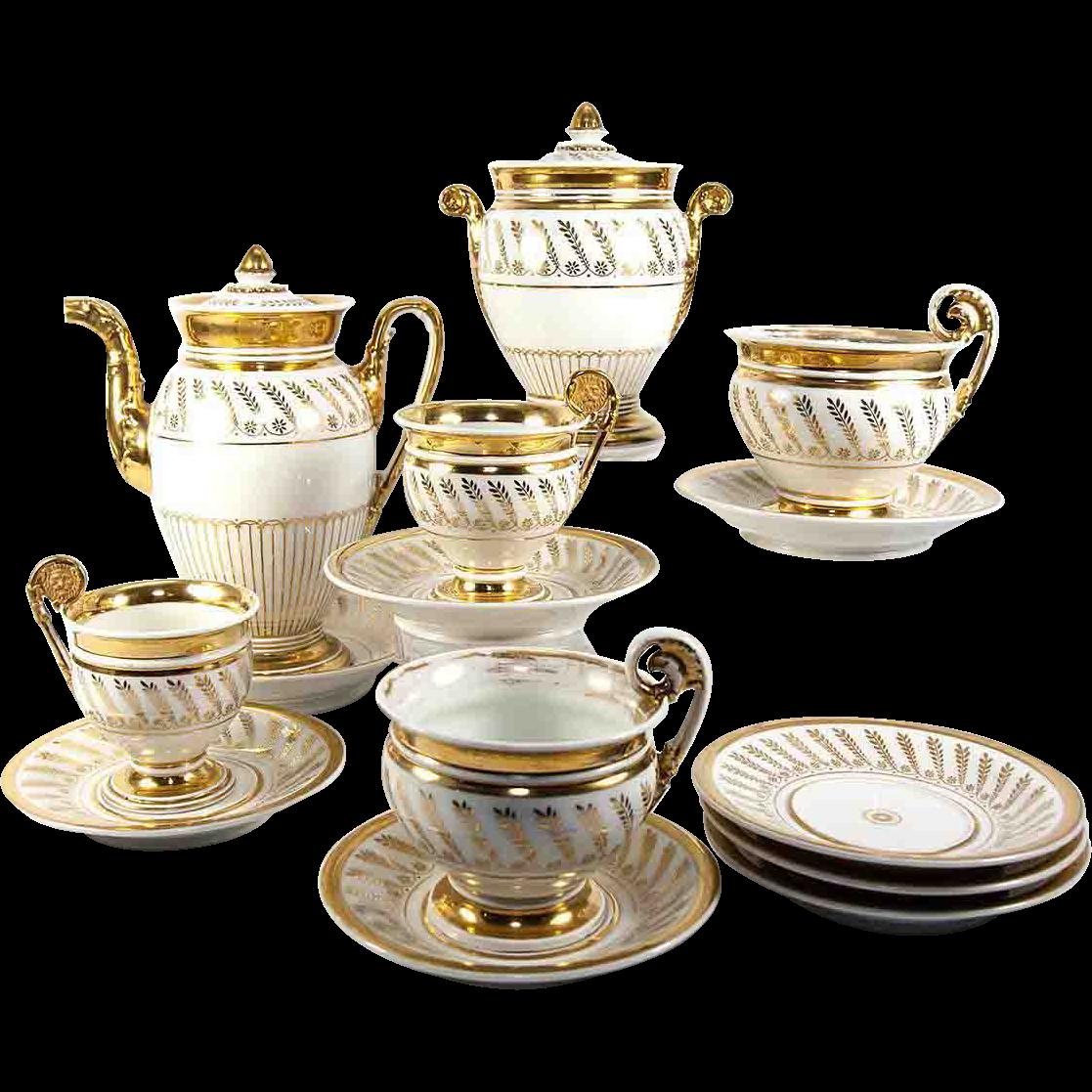 Fab Antique French Old Paris Porcelain French Empire Era