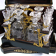 Additional images for 517rblltant, Antique French Boulle Tantalus, Cave a Liqueur