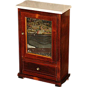 Antique French Ebeniste's Apprentice Work, Miniature Armoire - Louis Philippe with drawer, just right for antique dolls