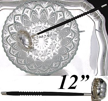 """Great Vintage English Sterling Silver 12"""" Wine or Punch Ladle"""