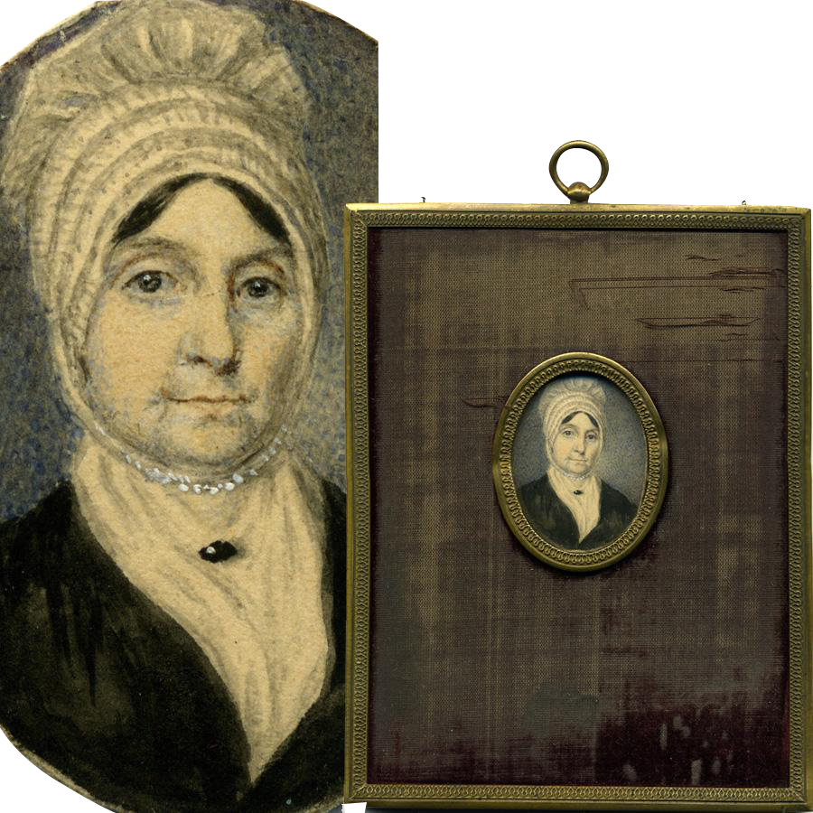 Antique Hand Painted French Portrait Miniature Woman In