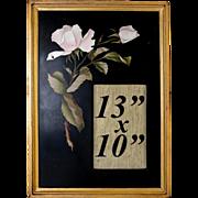 "Antique Mid-1800s Italian Pietra Dura Marble Mosaic Frame, 13"" x 10"""
