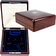 Antique c.1890-1910 French Jewelry Box, Casket in Rosewood, Velvet Interior, Watch Box