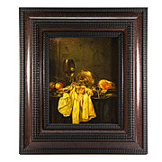 Vintage Oil Painting, A Dutch Master Look-alike Still Life in Charming Frame