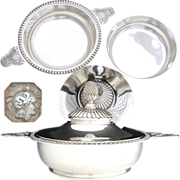Exceptional Antique French Sterling Silver Ecuelle or Covered Serving Dish, Original Lid & Interior Liner