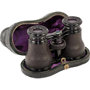 Antique French LeMaire - Paris Opera Glasses, Binoculars in Leather and Original Leather Case