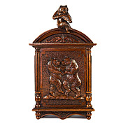 Antique Black Forest Carved Bears, A Wall Cabinet, Coin Bank - 3 Bears Fiddle & Dance