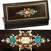 Antique French Boulle Box, Charles X Era, c.1830, Casket in Wood