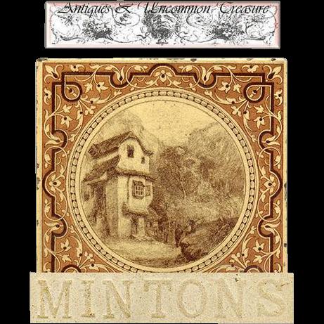 Rare Antique Minton China 6 Quot Decorative Tile Mountain