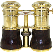 "Rare Antique English Triple Optic Binoculars, Opera Glasses: 1864 Trophy, ""Theatre, Field & Marine"" Settings"