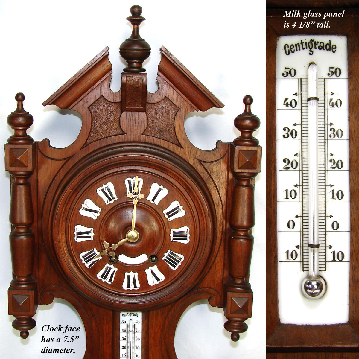 Antique French Black Forest Style Carved 29 Quot Wall Clock