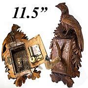 "Antique Black Forest Desk Musical Mechanical Hat, Coat Rack, 11.5"" w Game Bird, Pheasant"