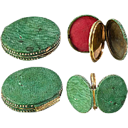 Antique Georgian Shagreen Locket, Portrait Miniature Etui