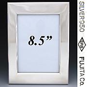 "Fine Vintage Sterling Silver 8 3/8"" Picture Frame, Wood Back & Easel Stand: Fujita Co. Marking"
