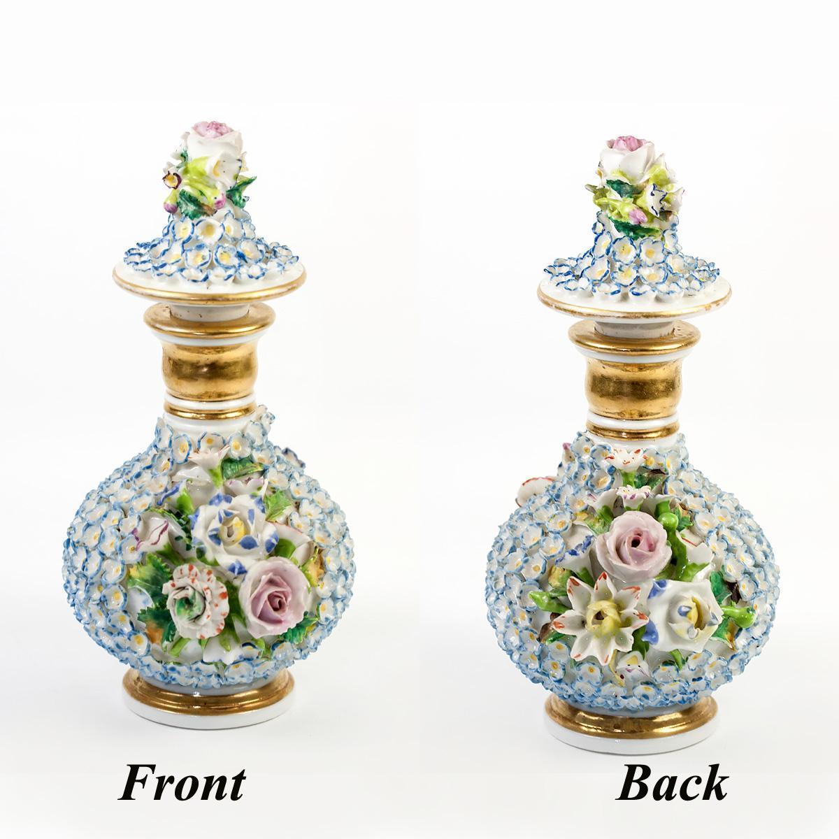 Antique French Porcelain Perfume Bottle, Jacob Petit, Old Paris, #1
