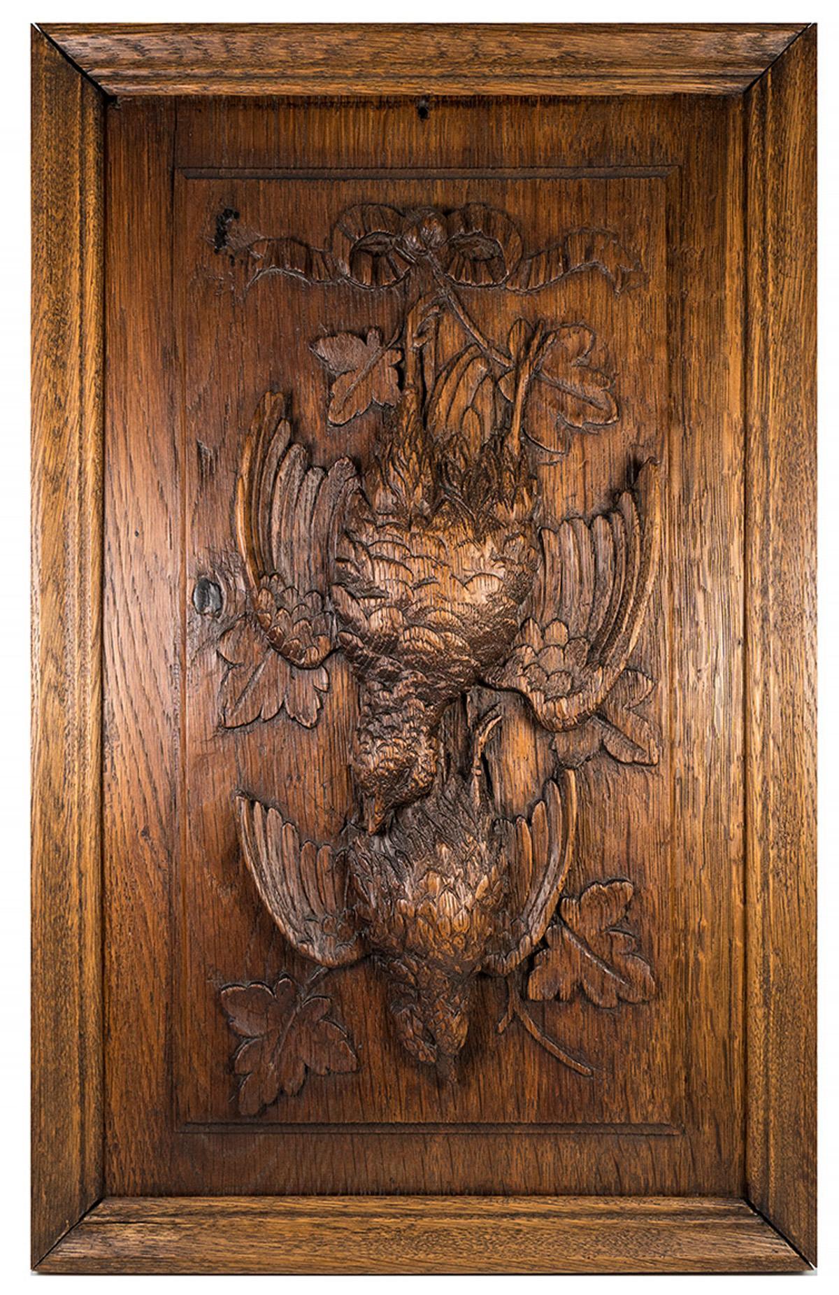 antique black forest carved wood fruits of the hunt plaque nature morte ebay. Black Bedroom Furniture Sets. Home Design Ideas