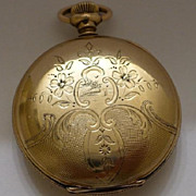 Rare 14kt GF Hunter Suffolk Pocket Watch