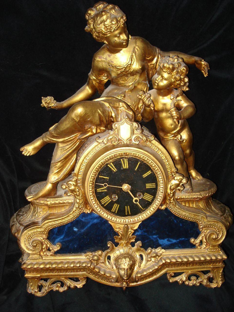 French Spelter Napoleon lll  Clock