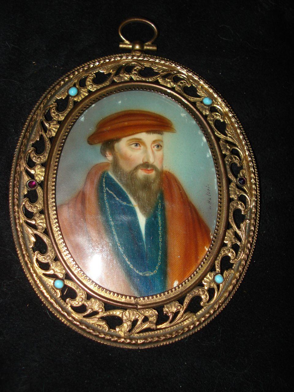 Miniature Portrait King James Of Scotland