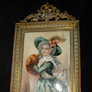Important French Miniature Portrait Madame Mole-Raymond
