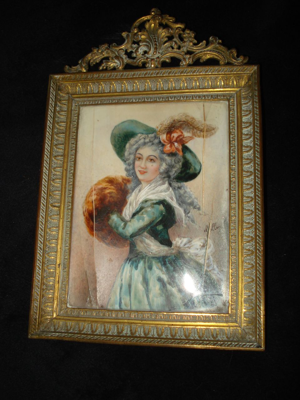 Important French Miniature Portrait Madame Mole-Raymond