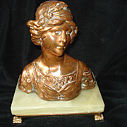 Bronze Bust Of Young Girl