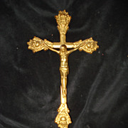 Vintage Brass Alter Cross