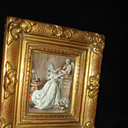 Classical European Genre Miniature Painting