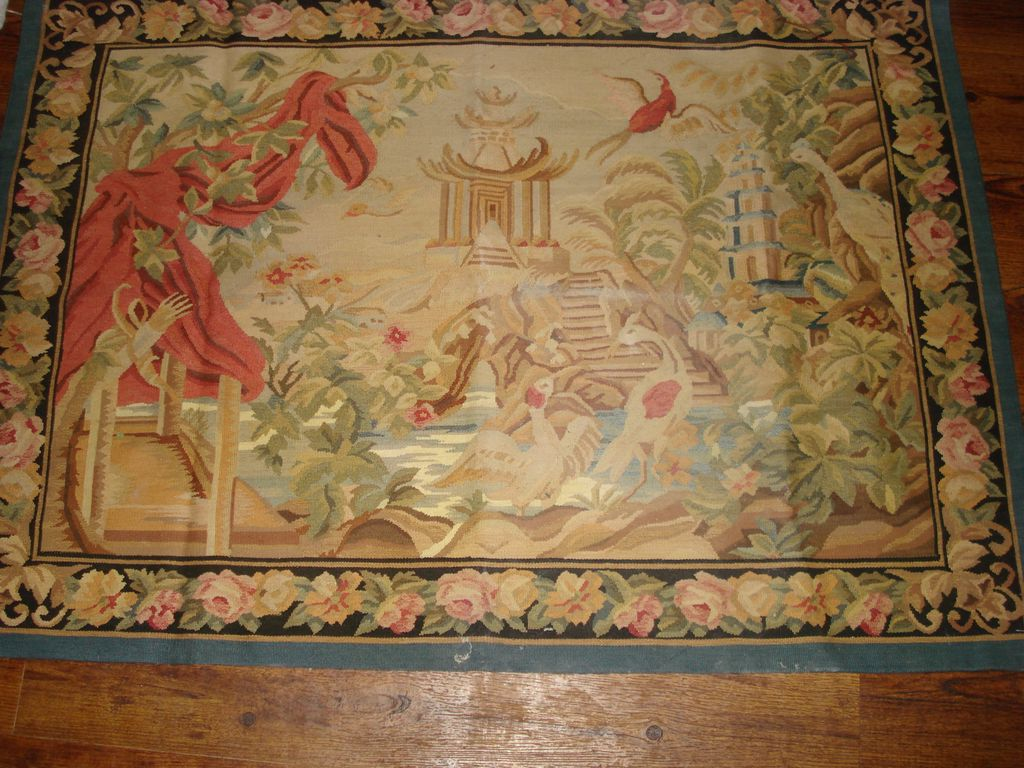 Antique French Aubosson Tapestry