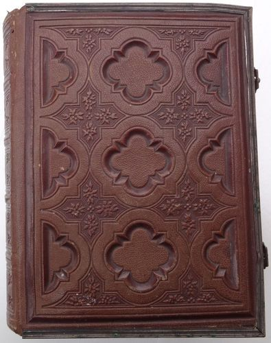 French Carved Napoleon III  Photo Album