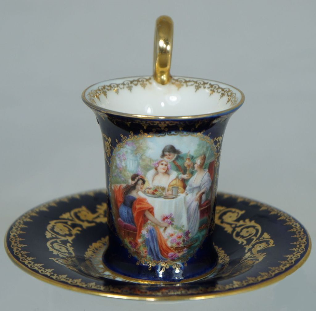 Royal Vienna Demi Scene Cup and Saucer