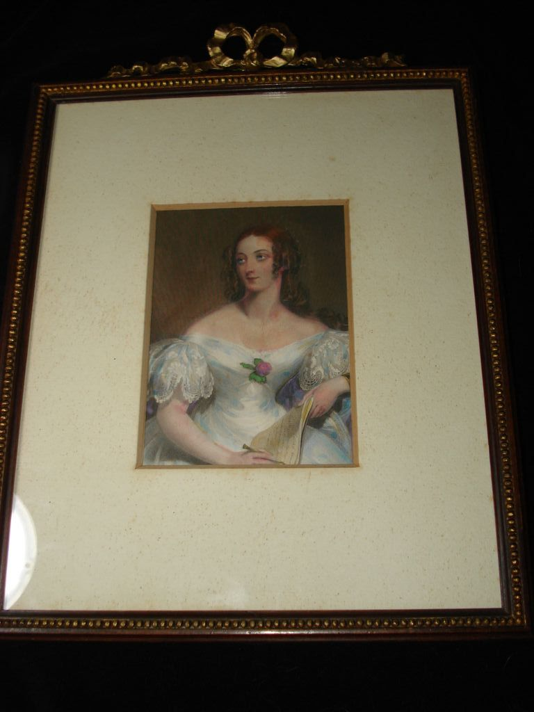 Original English Engraving  Aquatint Mrs. Fairlie  c1837