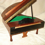 Marquetry Reuge Grand Piano Music Box