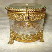 French Ormolu and Crystal Box