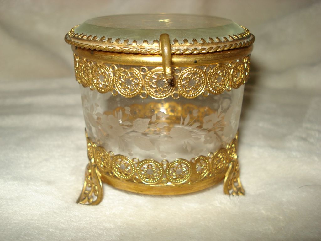 French Ormolu and Crystal Box