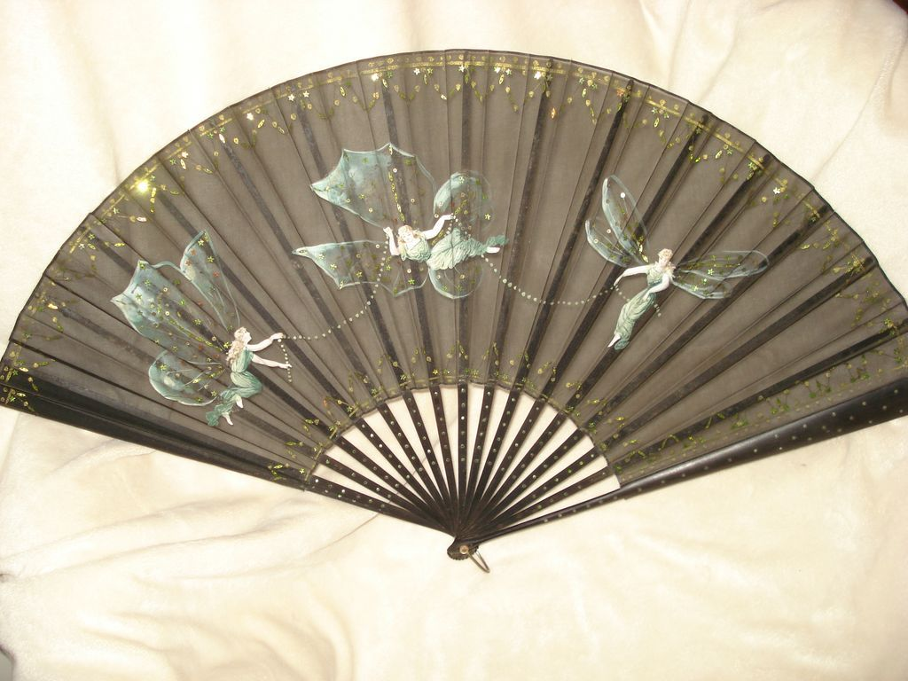 Hand Painted French Hand Fan