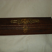 Carved Leather Napoleonic Glove Box