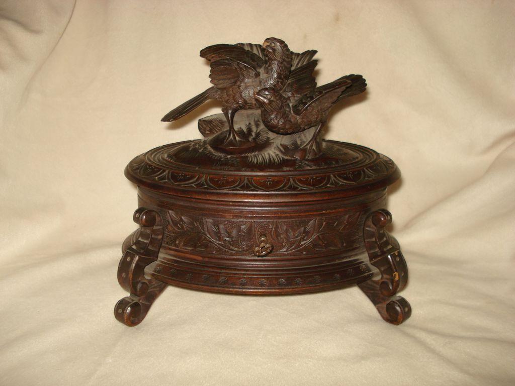German Carved Black Forest Bird Box