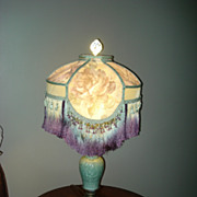 Oriental Celadon Geisha Table Lamp