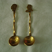 King George and Queen Victoria Farthing Salt Spoons