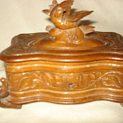 German Carved Black Forest Bird Box