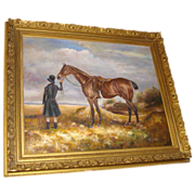 Painting of Horse and Rider