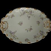 Antique Haviland Limoges Tarascon Violet Platter