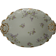 Antique Haviland Limoges Tarascon Violet Platter