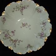 Antique Haviland Tarascon Violet Bowl