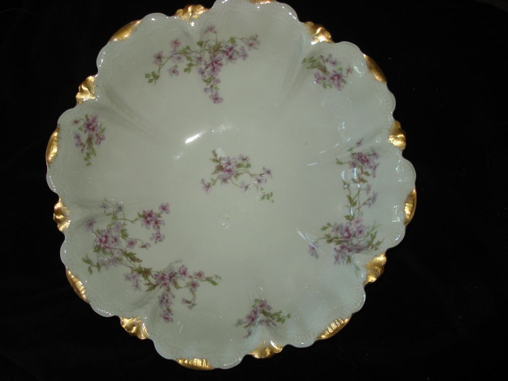 Antique Haviland Tarascon Violet Bowl