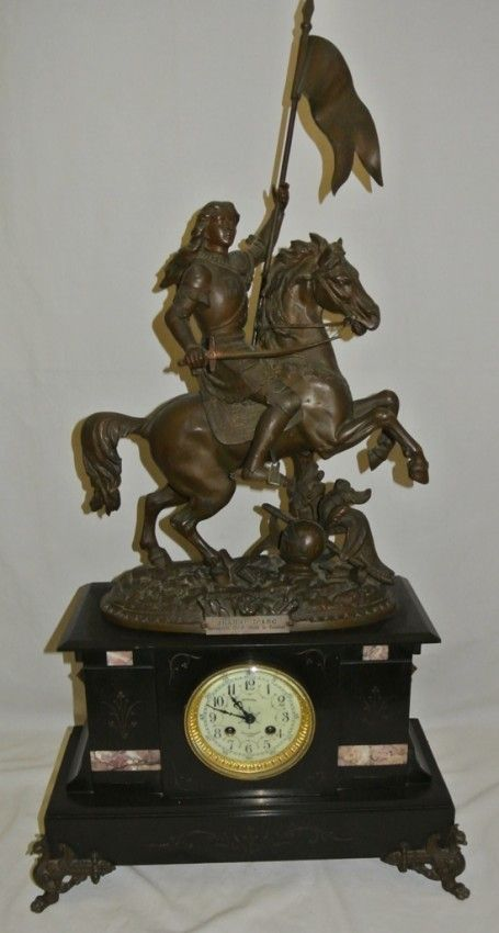 Vintage 19thc Joan of Arc Clock