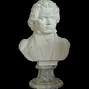Italian Marble Bust Of Beethoven
