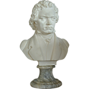 Italian Marble Bust Of Beethoven